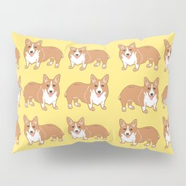 Happy Corgi Pattern Pillow Sham