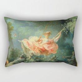 The Swing by Jean-Honoré Fragonard Rectangular Pillow