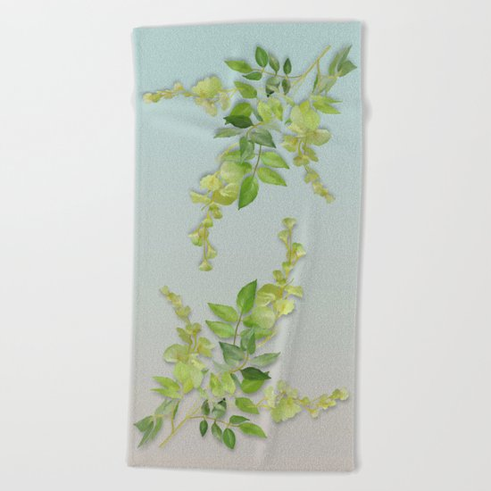 Yellow Tiny Flowers Beach Towel