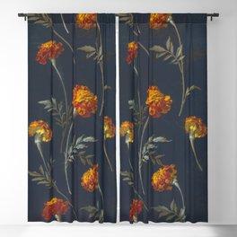 Vintage Marigolds Blackout Curtain