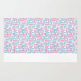 Pink and blue geometric pattern. Rug
