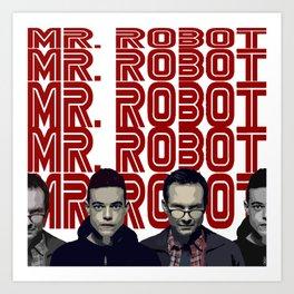Mr. Robot Art Print