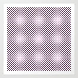Wood Violet Polka Dots Art Print