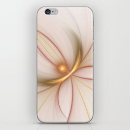 Nobly In Gold And Copper, Fractal Art iPhone Skin