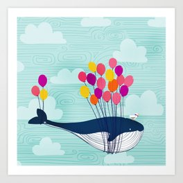 Flight of the Whale Art Print