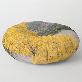 ROCKY MOUNTAIN AUTUMN COLORADO NATIONAL PARK BEAR LAKE LANDSCAPE Floor Pillow