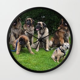 Waiting for a Walk Wall Clock
