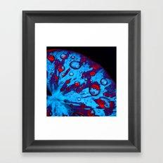 neon lily pad XVI Framed Art Print