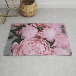 Pink Flowers Photography Rug