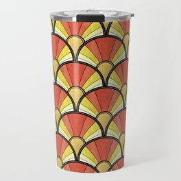 Radiant Sunshine Art Deco Pattern Travel Mug