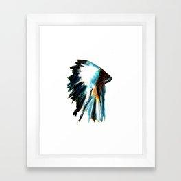 Indian Headdress Native America Illustration Framed Art Print