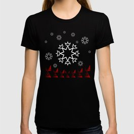 Xmas Snowflake with Red tipi T-shirt