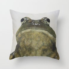 Hey, Frog Throw Pillow