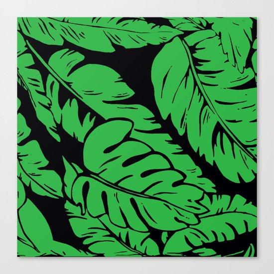 PALM LEAF GREEN Canvas Print