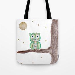 Owl Fun #5 #mint #green #gold #drawing #decor #art #society6 Tote Bag