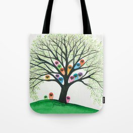 Shasta Owls in Tree Tote Bag