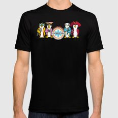 Sgt. Popper's Penguin Marching Band Black MEDIUM Mens Fitted Tee