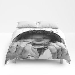 Space Noir Comforters