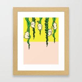Climbing down Framed Art Print