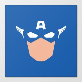 Superhero America Captain Canvas Print