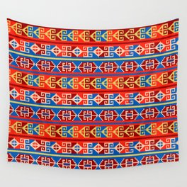Mexican Aztec Ethnic Geometric Pattern Wall Tapestry