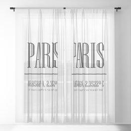 PARIS PARIS! Sheer Curtain