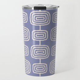 Mid Century Modern Atomic Rings Pattern Lavender Travel Mug