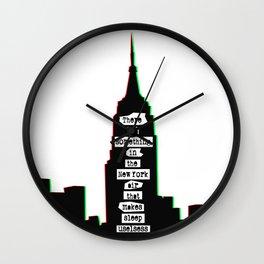 Sleepless New York Wall Clock