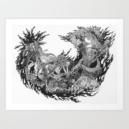 A Divine Hiccup Art Print