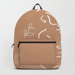 Woman in Nature Illustration Backpack