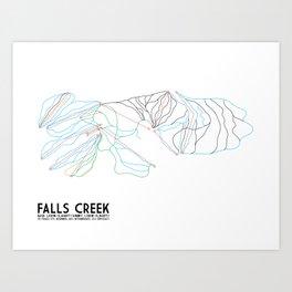 Falls Creek, Victoria, Australia - Minimalist Trail Art Art Print