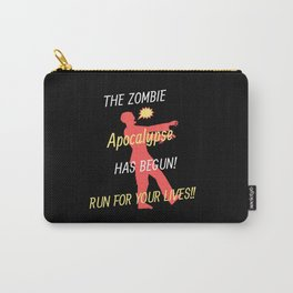 The Zombie Apocalypse has begun! Undead gifts. Carry-All Pouch