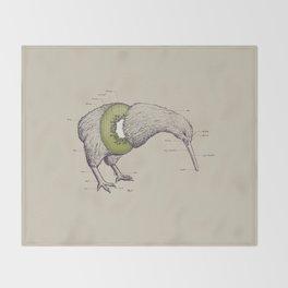 Kiwi Anatomy Throw Blanket