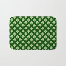 Shamrock Clover Polka dots St. Patrick's Day green pattern Bath Mat