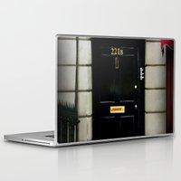 221b Laptop & iPad Skins featuring 221B Baker Street BBC Sherlock by Katikut