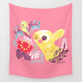 Spring Bunny Wall Tapestry