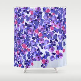 In the land of grey and pink Shower Curtain