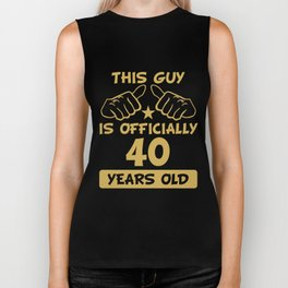 This Guy Is Officially 40 Years Old 40th Birthday Biker Tank