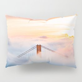 Golden Gate Bridge at Sunrise from Hawk Hill - San Francisco, California Pillow Sham