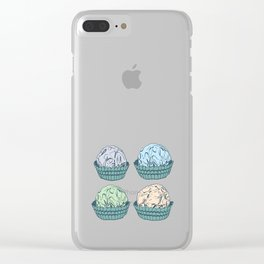 Candy chocolate truffles sketch Clear iPhone Case