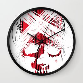 Star skull2 Wall Clock