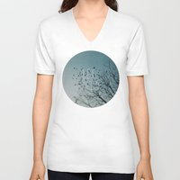 let it go V-neck T-shirts featuring Let Go by Brandy Coleman Ford