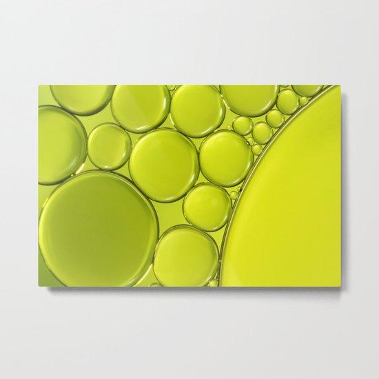 Simply Lime III Metal Print