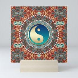 Bohemian Batik Yin Yang Mini Art Print
