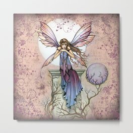 A Place to Think Fairy Fantasy Art Metal Print
