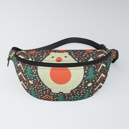 Bear, dots and Christmas trees Fanny Pack