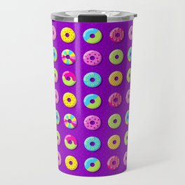 Donut Pattern Travel Mug