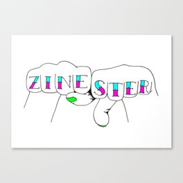 zinester knuckles (in colour) Canvas Print