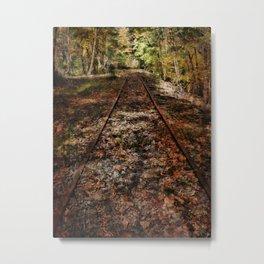 Forward Along the Railroad Tracks Metal Print