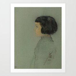 Young Woman in Profile Art Print